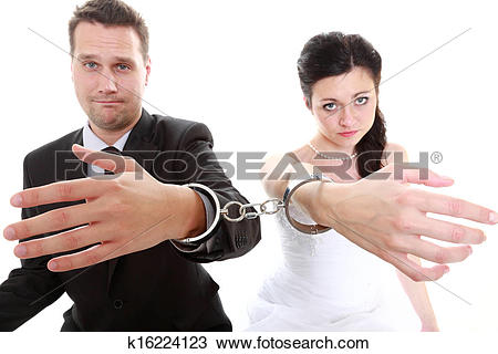 Stock Photo of relationship concept couple in divorce crisis.