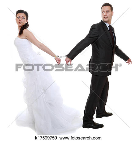 Stock Photograph of relationship concept couple in divorce crisis.