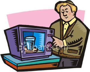 Running Water Heater Clipart.