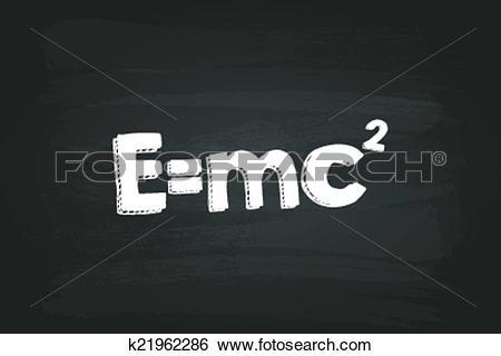 Clip Art of Theory Of Relativity Formula k21962286.