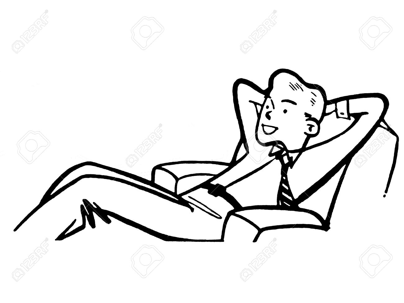 Relax Clipart Black And White.