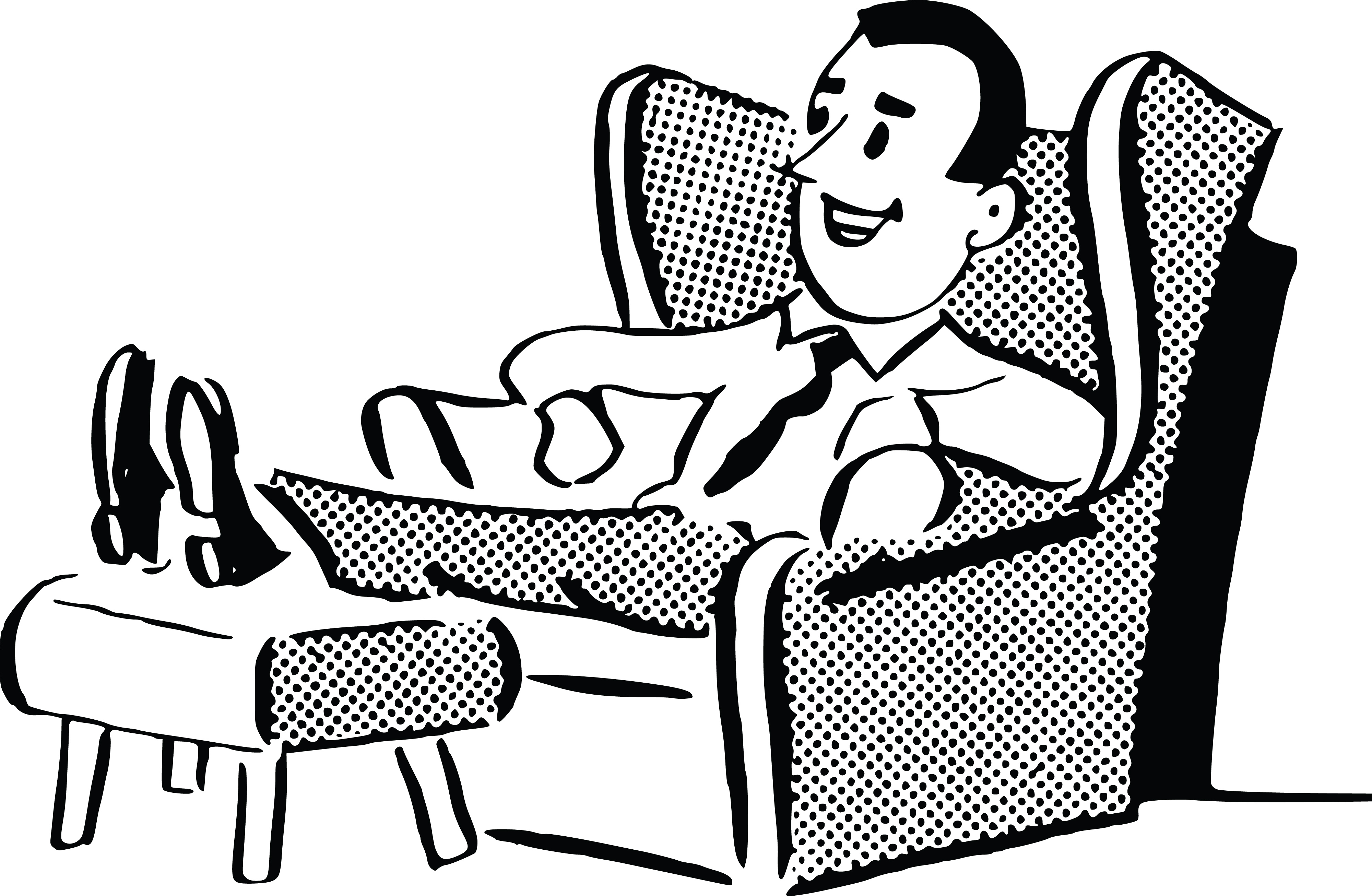 839 Relaxing free clipart.