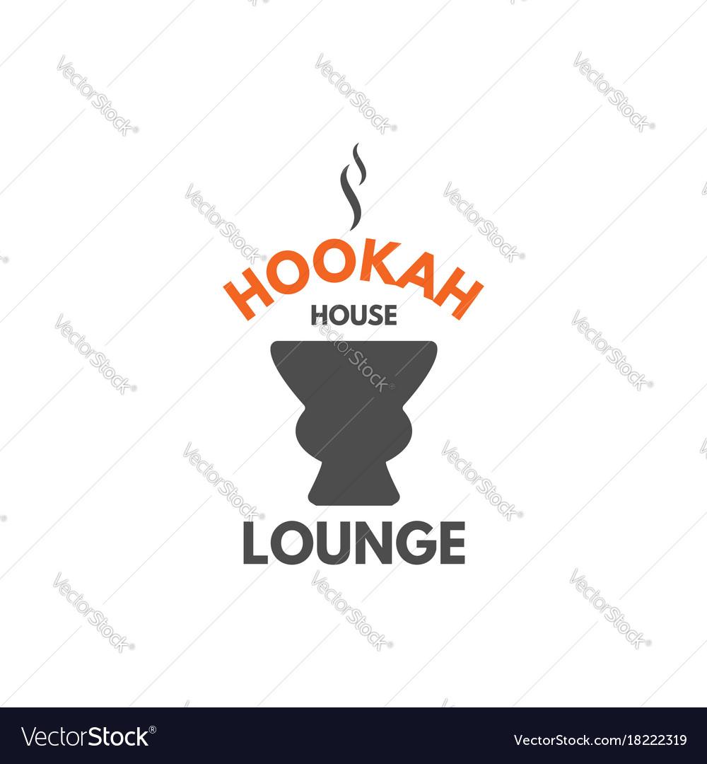 Hookah relax label badge vintage shisha logo.
