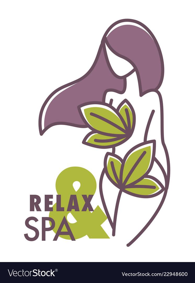 Relax and spa center salon logo graphic design.