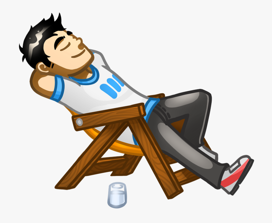 Employee Clipart Relaxed.