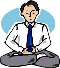 Yoga breathing clipart.