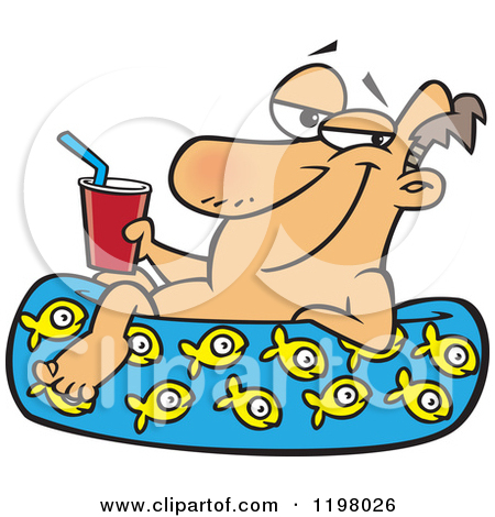 Man relaxed clipart.