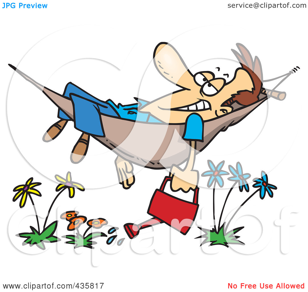 Relaxed person clipart.