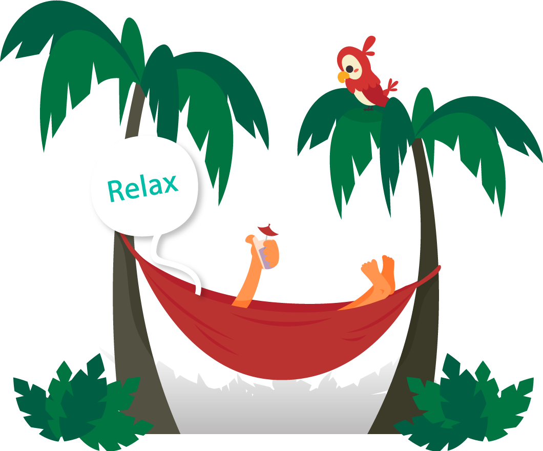 Relaxing clipart hammock, Relaxing hammock Transparent FREE.