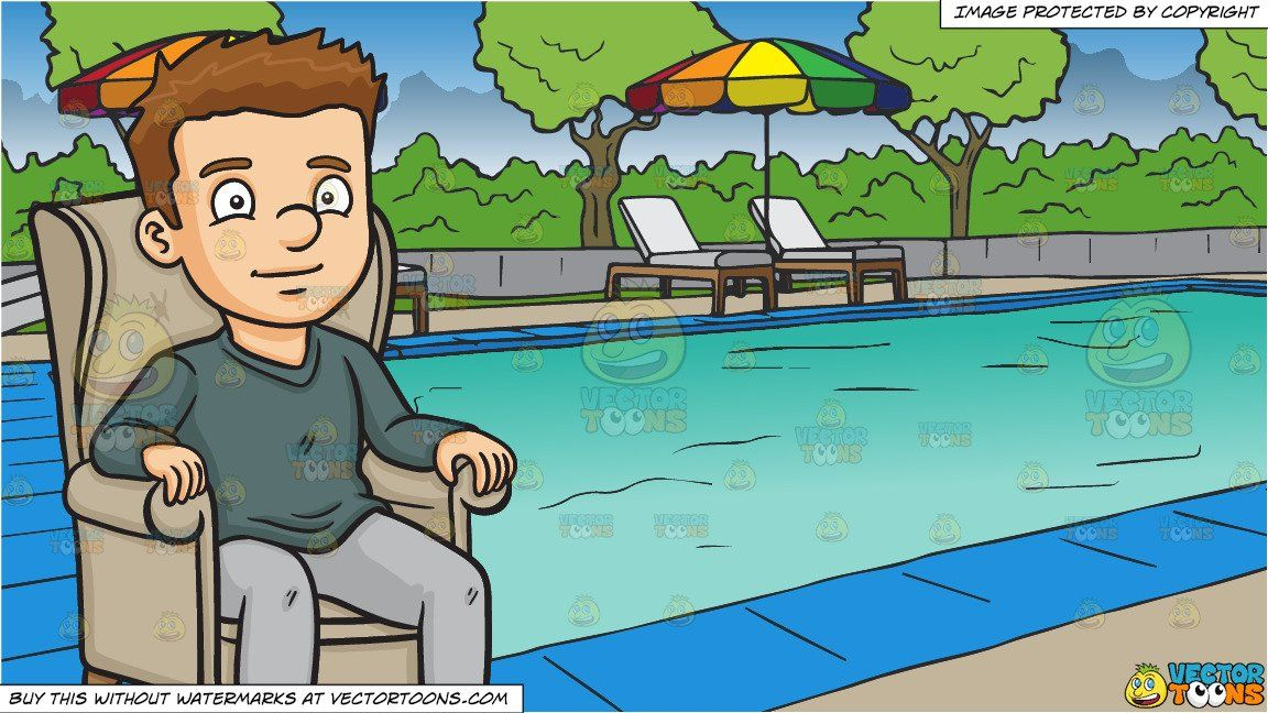clipart #cartoon A Man Relaxing On A Single Couch and A.