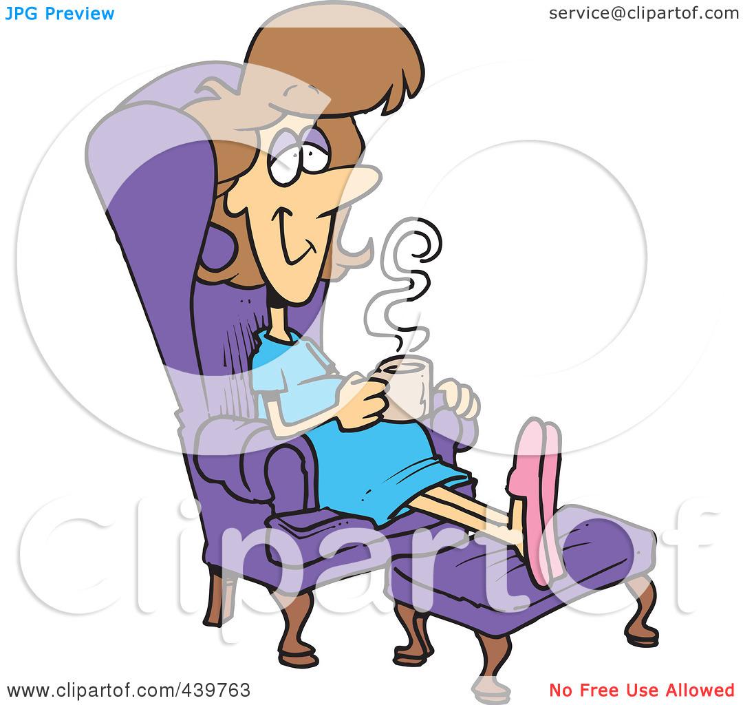 Relaxation Cartoon Clipart.