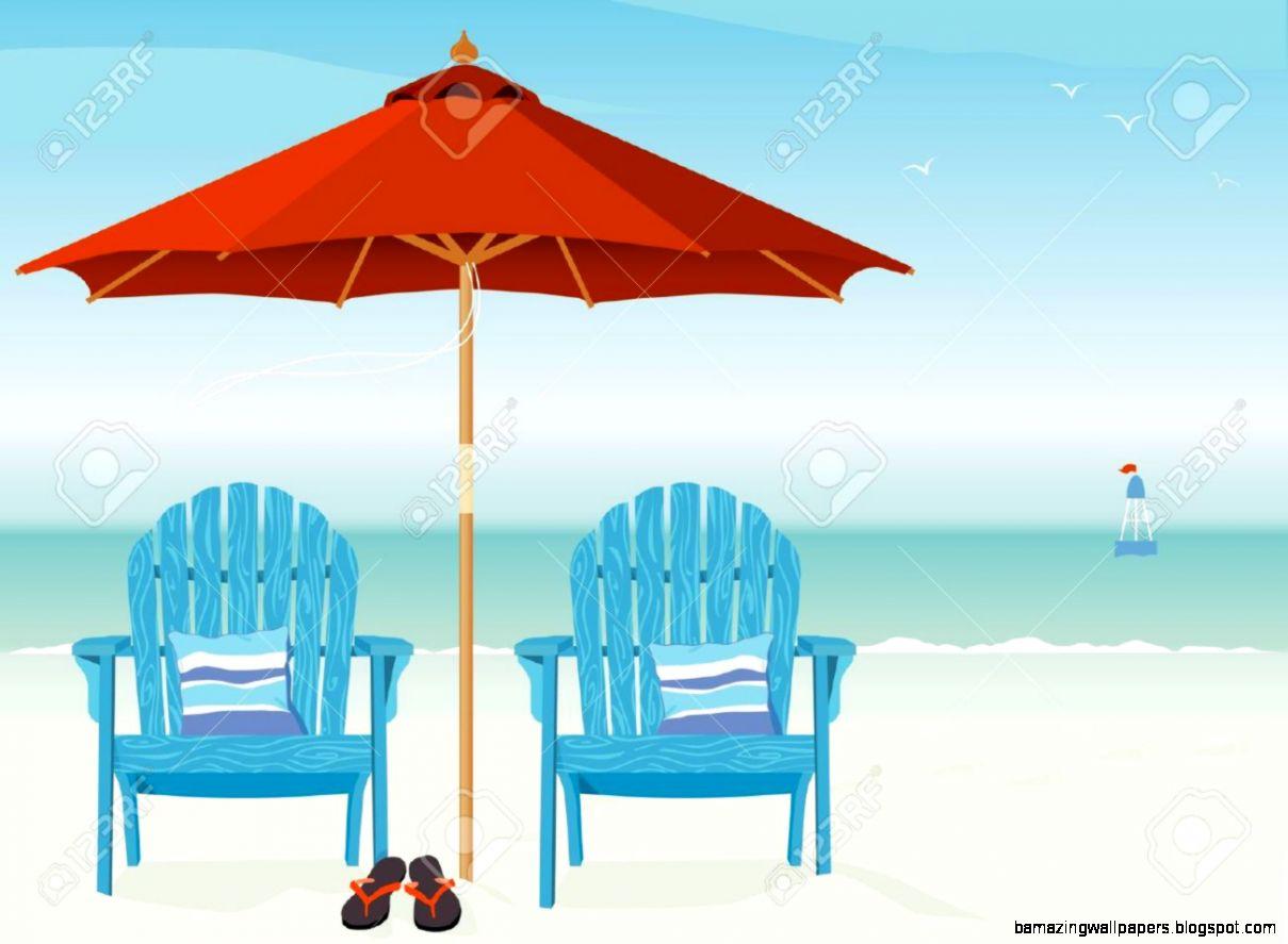Beach Scenes Clip Art.