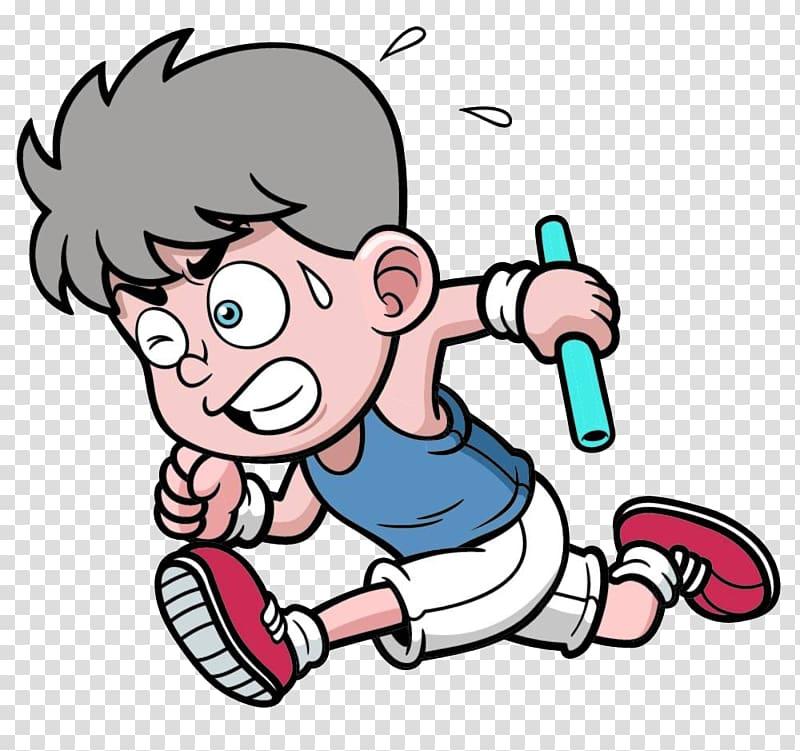 Drawing Dessin animxe9 Relay race Illustration, child baton.