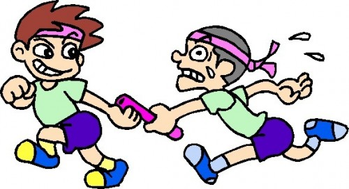 Relay Race Clipart.