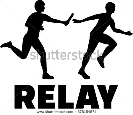 Relay runners clipart.