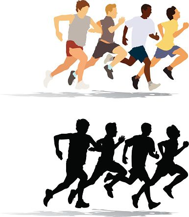 Lovely Clipart Of People Running relay race clip art vector.
