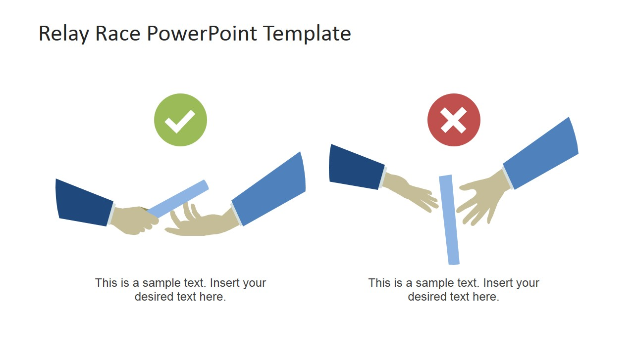 Relay Race PowerPoint Template.