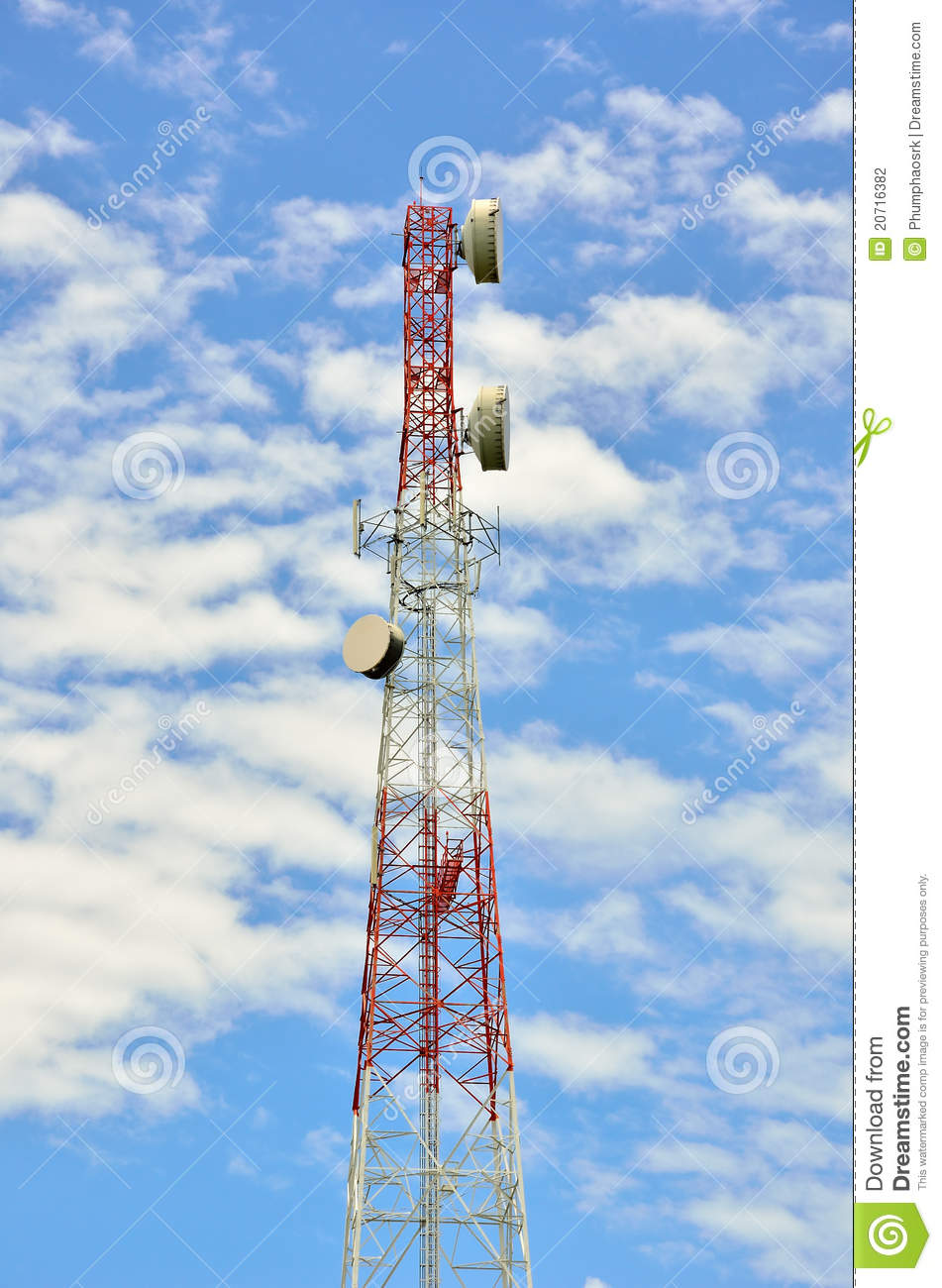 Radio Relay Link, Mobile Base Station Stock Photography.
