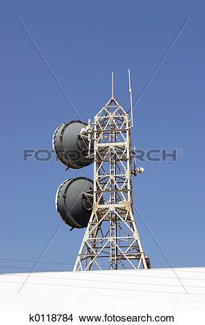 Stock Photo of Sattelite relay station k0118784.