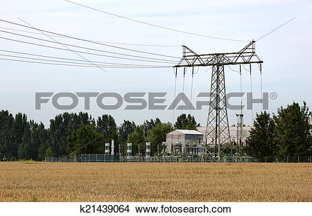 Stock Photo of Relay Station On Field k21439064.
