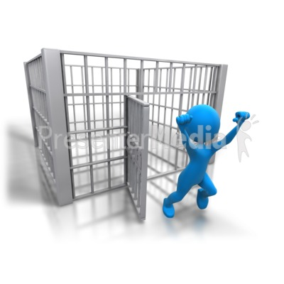 Stick Figure Released Jail.