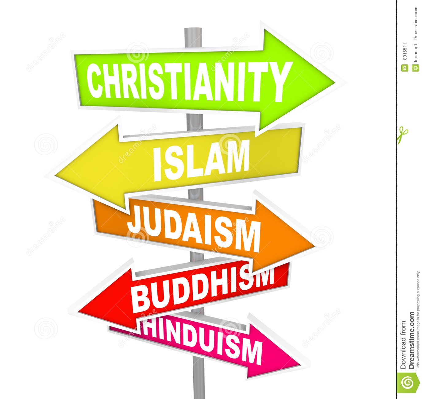 World religion clip art.