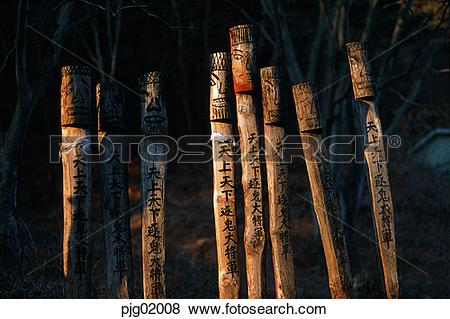 Pictures of tree, ethnic customs, tradition, Korea, properties.