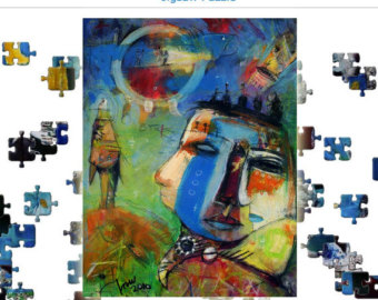 Outsider and Abstract Paintings Puzzles Video by ArtFeelsGood.