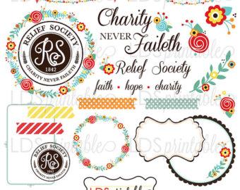 RSCA001 LDS Relief Society Clipart Clip Art Faith by LDSPrintable.