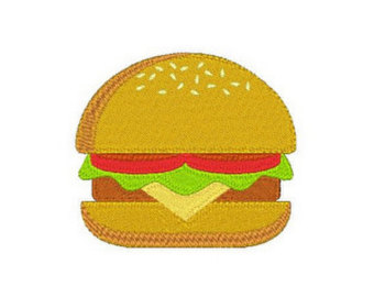 Cheeseburger Vector Relief Art Model for cnc router projects or 3D.