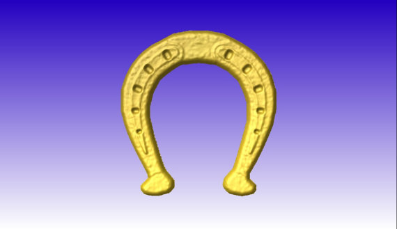Horse Shoe No 1 Vector Relief Art Model for cnc router projects or.