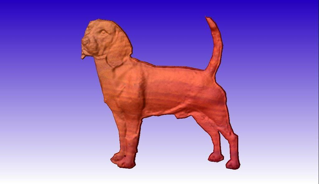 Beagle CNC Relief Model 3D Clipart.