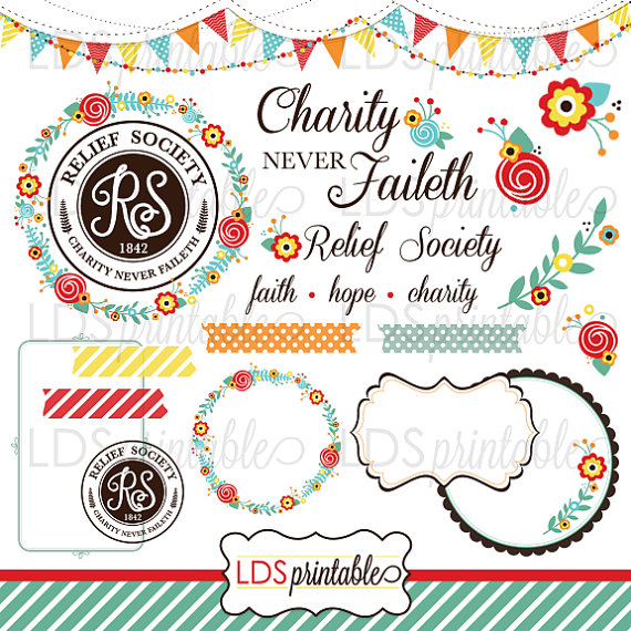relief society cute clipart #9