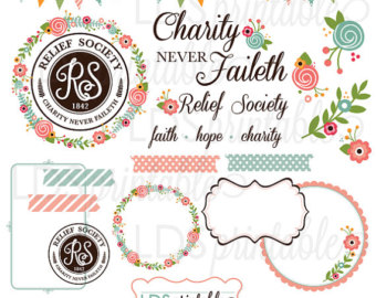 Relief society cute clipart.