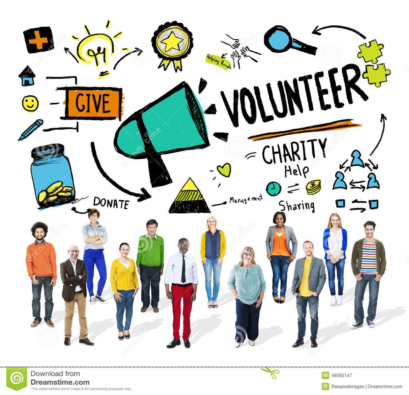 Volunteer Charity Relief Work Donation Help Concept Stock Photo.