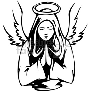 female angel clipart. Royalty.