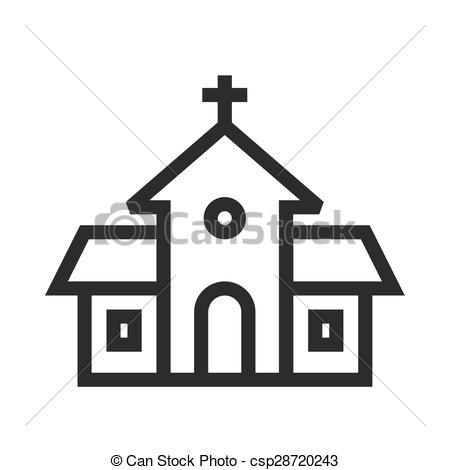 EPS Vector of Building, church, religious icon vector image.Can.