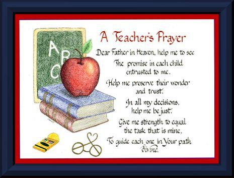25+ best ideas about Teacher Prayer on Pinterest.