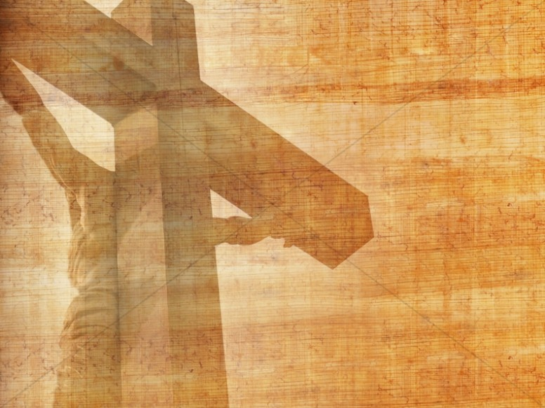 Cross Design Christian Background Wood Grains.
