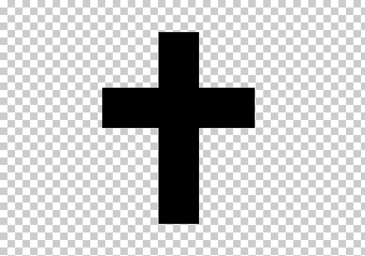 Christian cross , religious black PNG clipart.