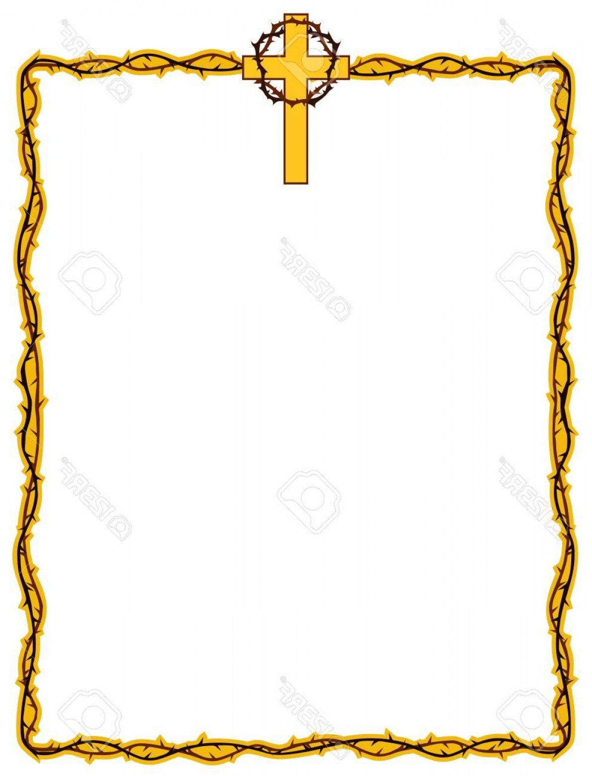Photostock Vector Christian Frame Design With Cross And.