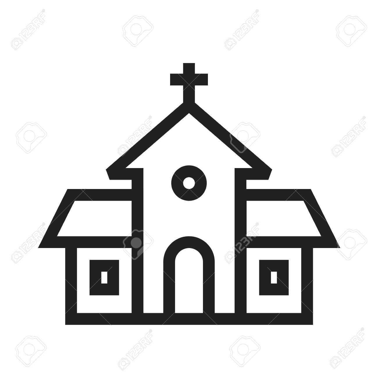 Building, Church, Religious Icon Vector Image.Can Also Be Used.