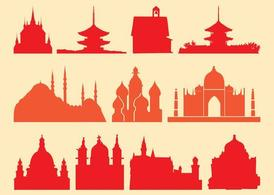 Religious Buildings, Vector Images.