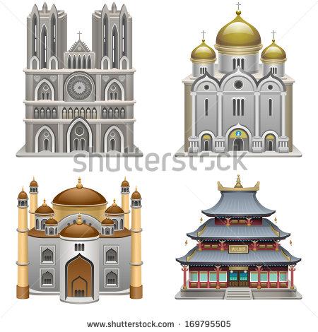 A Religious Temple Stock Vectors, Images & Vector Art.