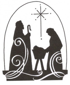 Religious Christmas Clipart Black And White.
