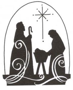 Religious Christmas Clipart Black And White.