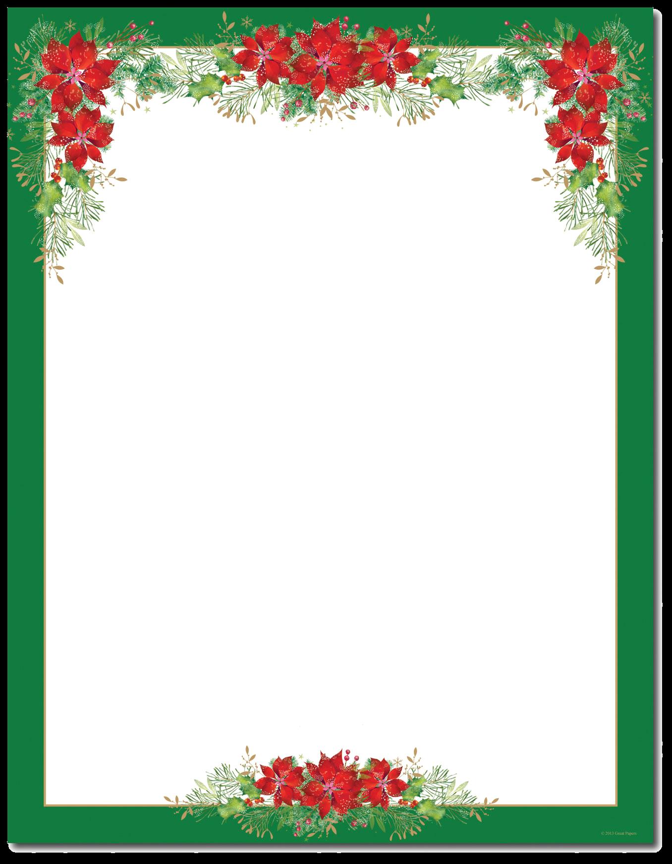 Christmas Border Letterhead Borders Clip Art Religious For.