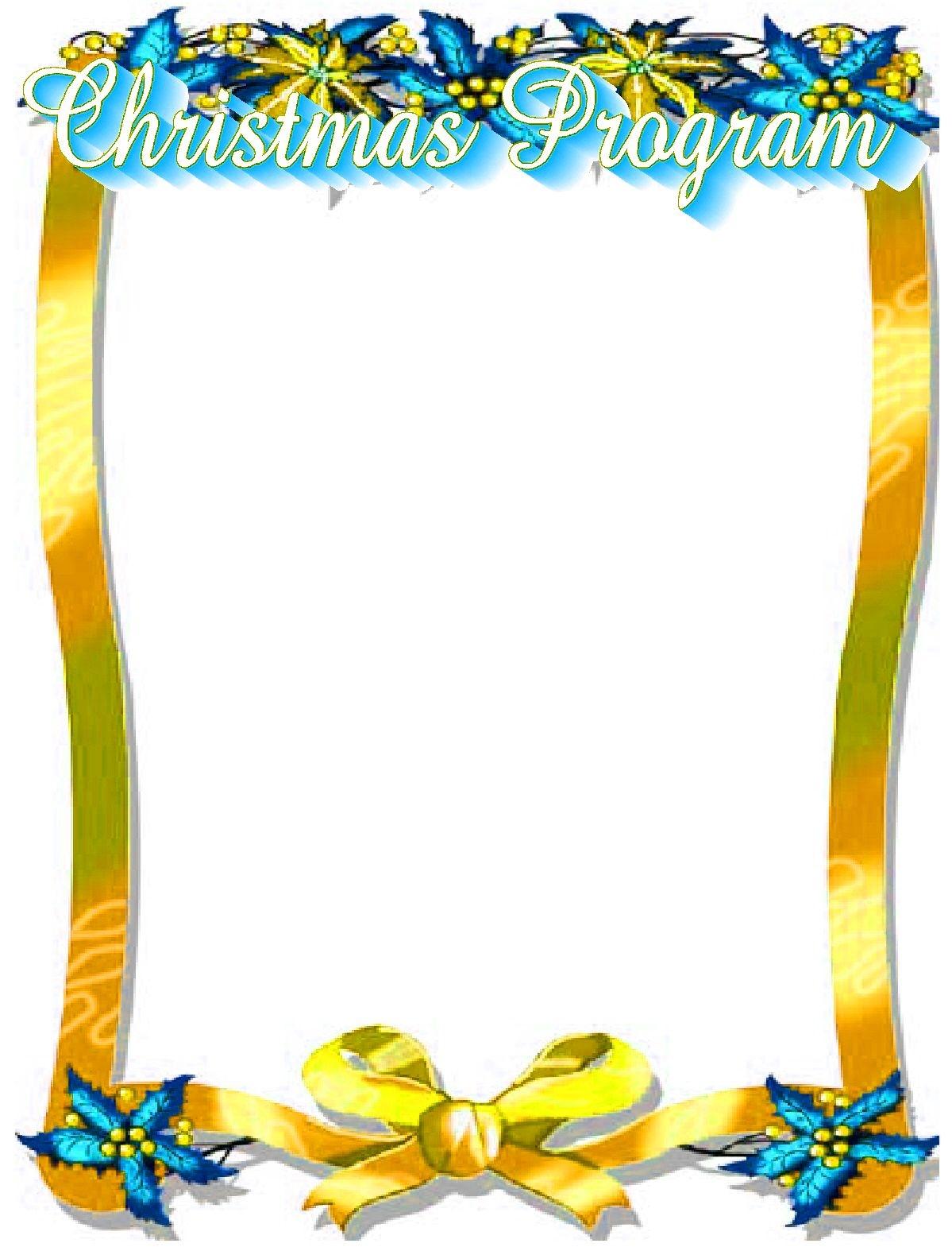 Religious Christmas Border Clipart.