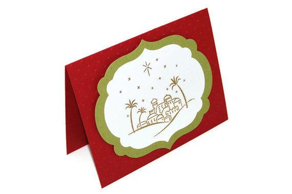 Religious christmas card clipart.