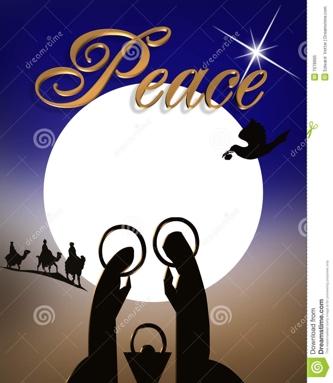 religious christmas cards clipart